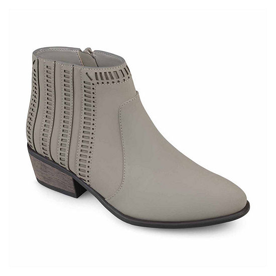 Journee Collection Womens Noni Booties Block Heel Zip