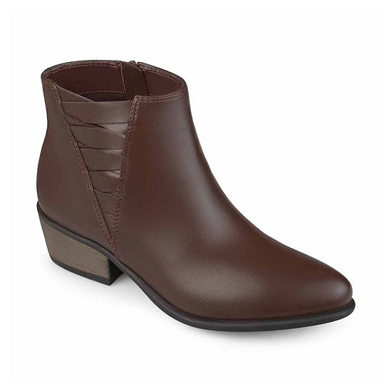 Journee Collection Womens Estell Booties Block Heel
