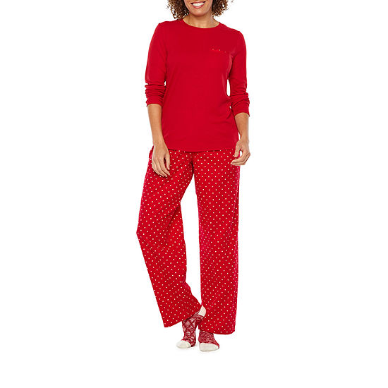 a8be142cc7 Liz Claiborne 3 Piece Pant Pajama Set With Socks-Tall