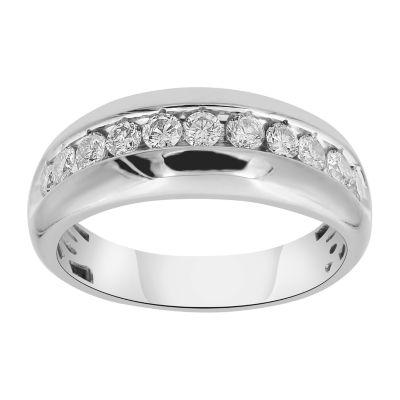 Mens 1 CT. T.W. Genuine White Diamond 10K Gold Band