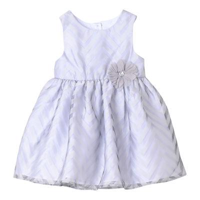 Marmellata Sleeveless Chevron Pattern Dress - Baby Girls