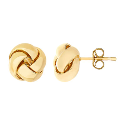 Made In Italy 14K Gold 9.6mm Stud Earrings