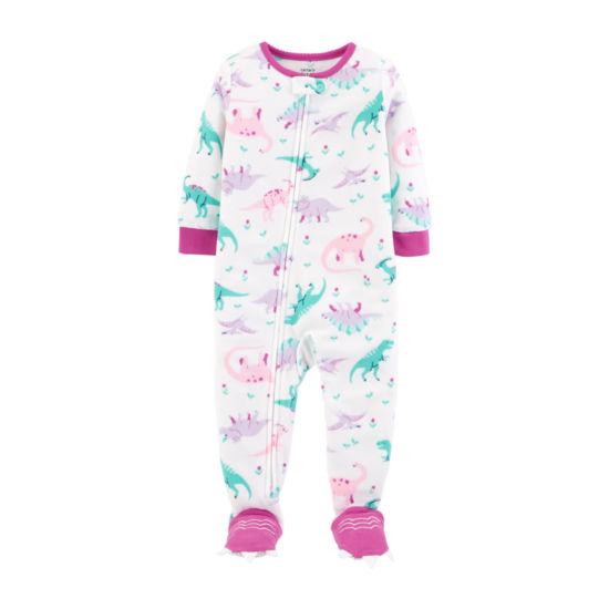 Carter's 1-Pc. Dinosaur Footed Fleece Pajama - Toddler Girl