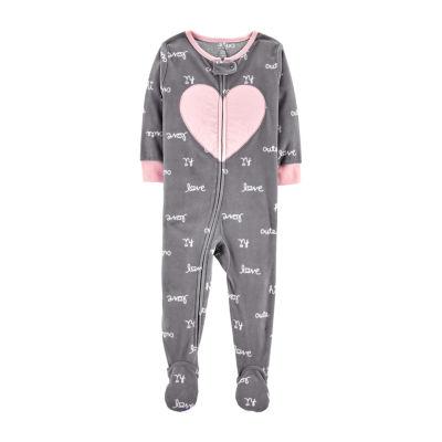Carter's 1-Pc. Heart Fleece Pajama - Toddler Girl