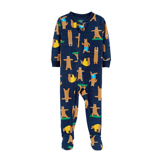 b56cf8f12831 Carters Long Sleeve One Piece Pajama Baby Boys JCPenney