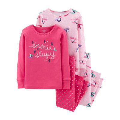 Carter's 4-pc. Pant Pajama Set Girls