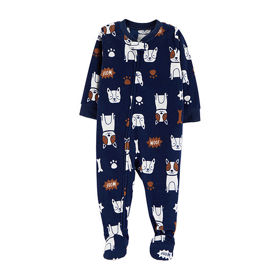4bb64c08d5 Carters Long Sleeve One Piece Pajama Toddler Boys JCPenney