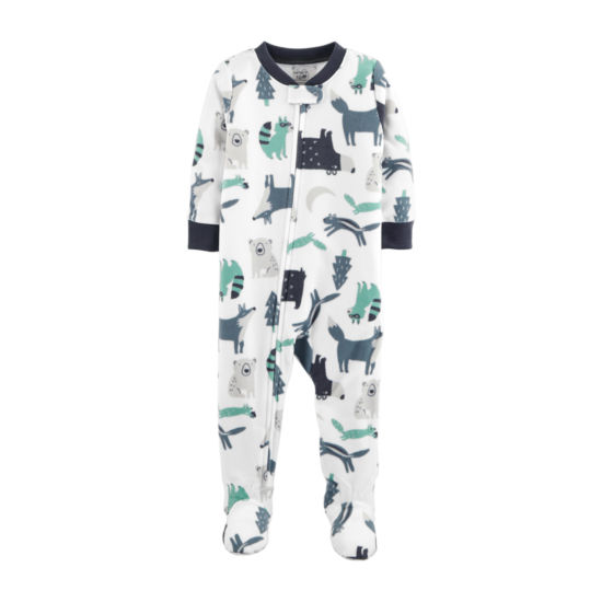 Carter's Boys Flannel Long Sleeve One Piece Pajama