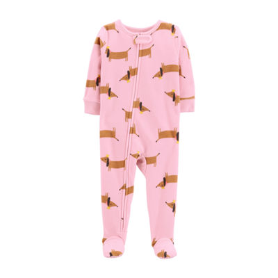 Carter's Girls Fleece Long Sleeve One Piece Pajama
