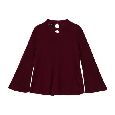 by&by girl Long Bell Sleeve Keyhole Neck Blouse Girls