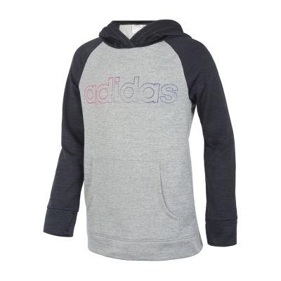adidas Lightweight Fleece Jacket-Big Kid Girls