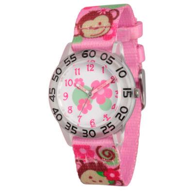 Red Balloon Girls Pink Strap Watch-Wrb000066