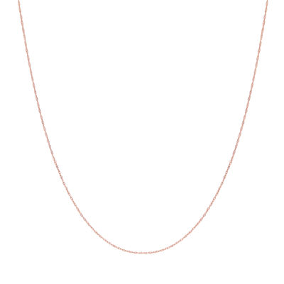 Made in Italy 14K Rose Gold 18 Inch Solid Singapore Chain Necklace