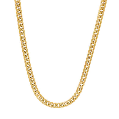 10K Gold 14K Gold 24 Inch Hollow Curb Chain Necklace