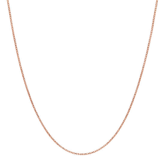 Made in Italy 14K Rose Gold 18 Inch Hollow Link Chain Necklace