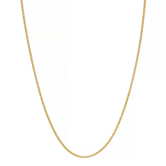 Made in Italy 14K Gold 18 Inch Hollow Link Chain Necklace