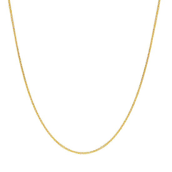 14K Gold 18 Inch Hollow Link Chain Necklace