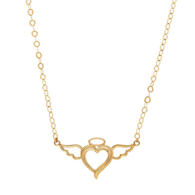 Womens 18 Inch 10K Gold Link Necklace