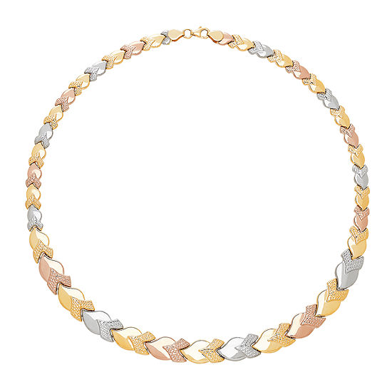 Womens 17 Inch 10K Gold Link Necklace