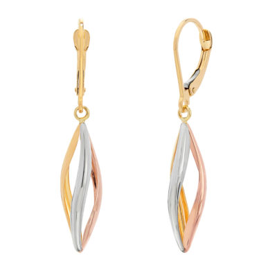 Made in Italy 14K Tri-Color Gold Drop Earrings