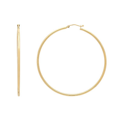 14K Gold 60mm Hoop Earrings