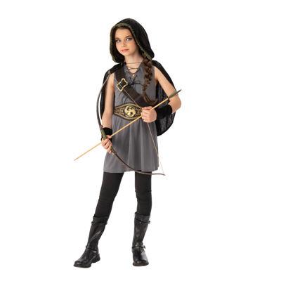 Girls Tween Hooded Huntress Costume