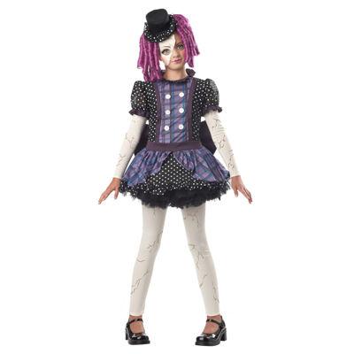Girls Broken Doll Costume Medium