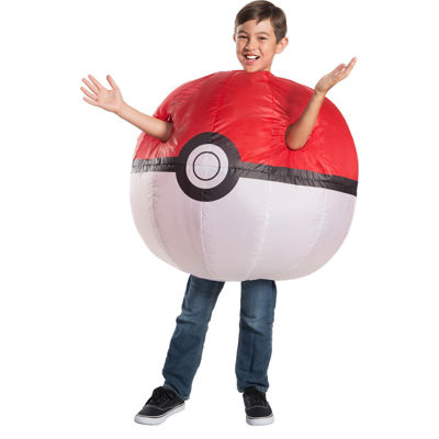 Pokemon Childrens Inflatable Poke Ball Costume- One Size Fits Most