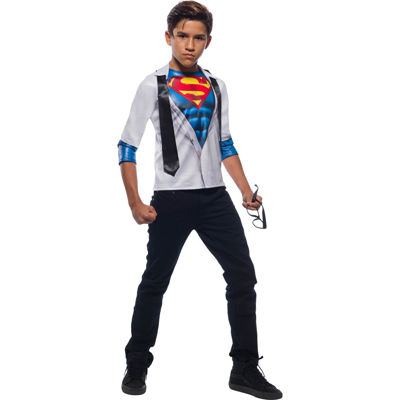 Boys Photo Real Superman Costume Top