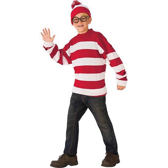 Where's Waldo Deluxe Child Costume