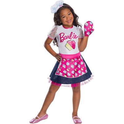 Girls Barbie Baker Chef Costume