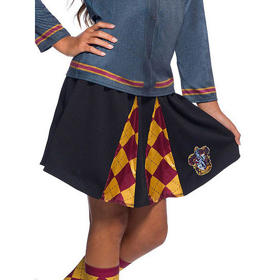 The Wizarding World Of Harry Potter Girls Gryffindor Skirt- One Size Fits Most