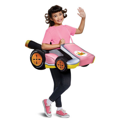 Super Mario Bros.  Peach Kart Child Costume- One Size Fits Most