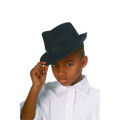 Black Durashape Fedora Child Hat- One Size Fits Most