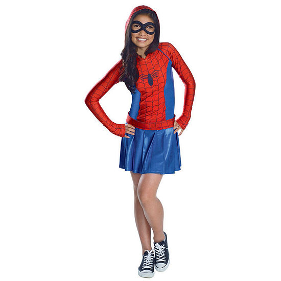 Kids Hooded Dress Spidergirl Costume