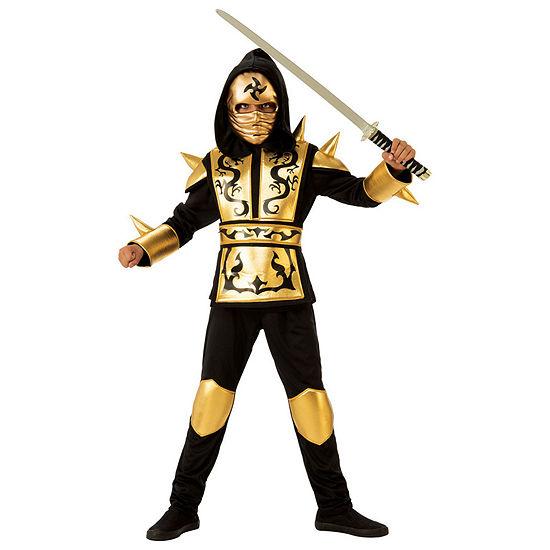 Boys Gold Ninja Costume