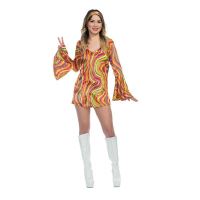 Girls Rainbow Lights Disco Diva Costume