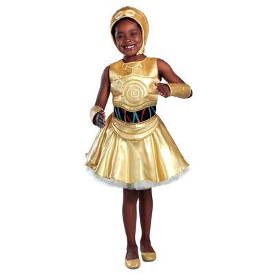 Girls Classic Star Wars C-3Po Dress Costume