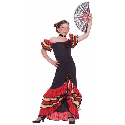 Girls Flamenco Girl Costume