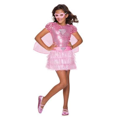 Kids Pink Supergirl Tutu Dress