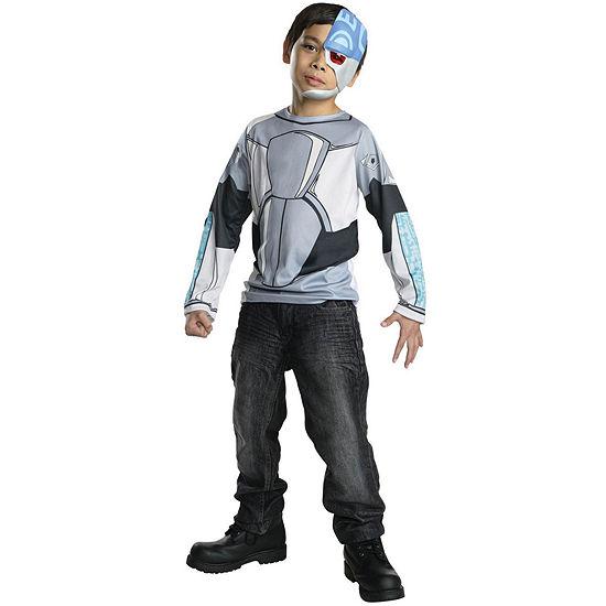 Kids Teen Titans Cyborg Costume Top