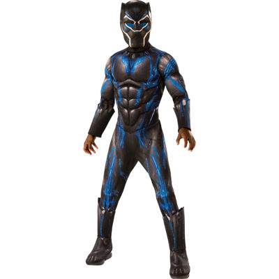 Marvel Black Panther Movie Boys Deluxe Black Panther Battle Suit Costume