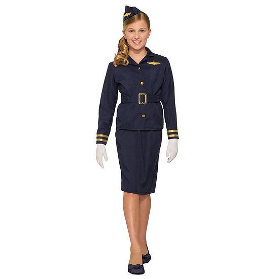 Girls Stewardess Costume Girls Costume