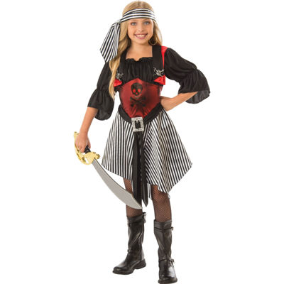 Girls Crimson Pirate Costume