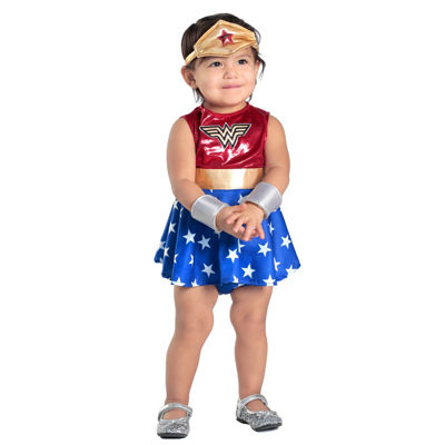 Baby Wonder Woman Dress & Diaper Cover Set Costume