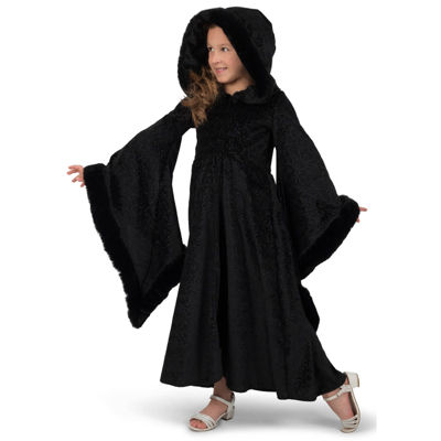 Girls Black Royalty Cloak Costume