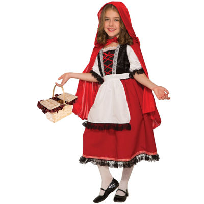 Girls Deluxe Red Riding Hood Costume