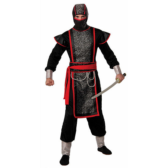 Mens Ninja Master With Hood Costume 4-pc. Dress Up Costume