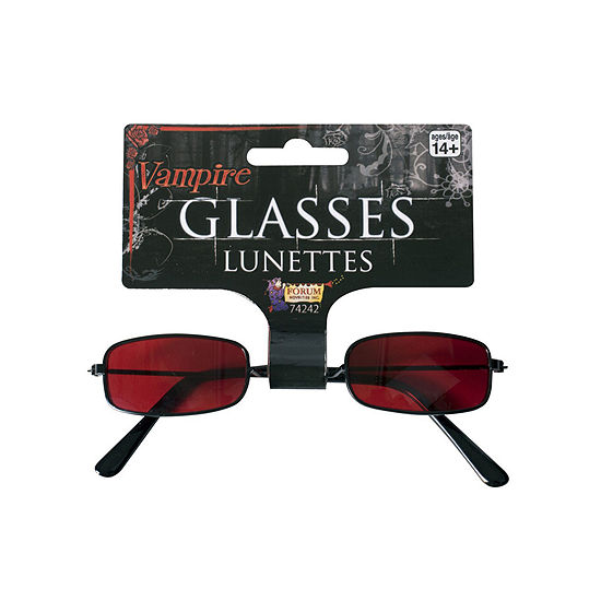 Red Vampire Glasses Dress Up Accessory