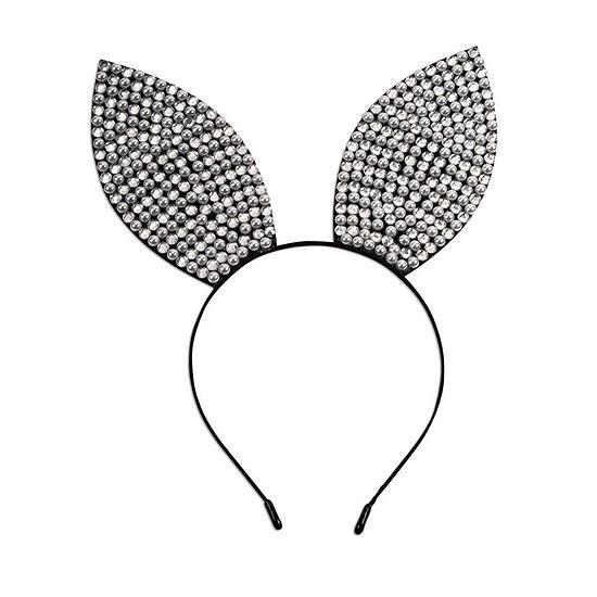 Rhinestone & Pearl Bunny Ears Headband Dress Up Accessory